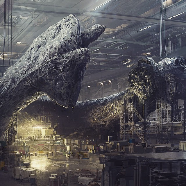 Concept Art For Unfinished Aliens Movie By District 9 Director